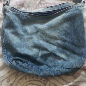 none Bags - Vintage crossbody jean purse!